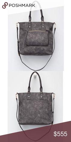f62fd7038c20 Free People Hadlee Tote Bag Free People line Violet Ray Hadlee faux leather  handbag. Zip