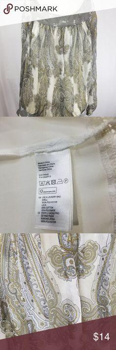Womens Zara Paisley Taupe Blouse Long Sleeve Womens Zara Paisley Taupe Blouse Long Sleeve 100% Silk Sz XS Zara Tops Blouses