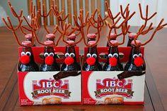 6 pack of reindeer w/ rootbeer