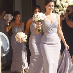 Beautiful Bridesmaids | Love these Dresses by Sue Lin #suelin #brides_style #bridesmaids