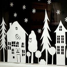 1000 images about fensterbilder on pinterest basteln for Fensterdeko weihnachten basteln papier