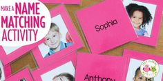 Create your own name matching cards. This article includes free templates, directions, and ideas for name activities with the custom cards.
