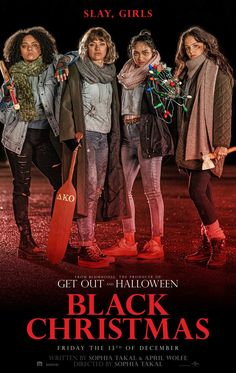 A group of students are stalked by a stranger during their Christmas break. A remake of the 1974 horror film 'Black Christmas'. Streaming Vf, Streaming Movies, Black Christmas Movies, Christmas 2019, Christmas Poster, Green Street Hooligans, Suga Twitter, Film Black, Movie Black
