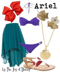 Swimwear inspired by Ariel from the Disney movie The Little Mermaid