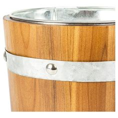 Cathy's Concepts Personalized Rustic Ice Bucket - V, Brown Silver