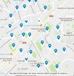 This is a map with pointing markers to help you to get to Strip Club Barcelona, which is a transportation service for those who want to go to a striptease club in Barcelona. Gentlemans Club, Transportation Services, Get Directions, Markers, Barcelona, Map, Website, Google, Places