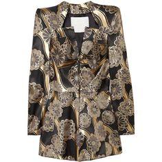 Zac Posen Brocade jacket ($809) ❤ liked on Polyvore