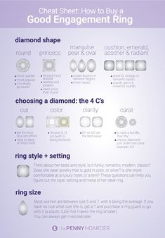 The Ultimate Guide to Buying a Stunning Engagement Ring (Without Going Broke) Diamond Shaped Engagement Ring, Buying An Engagement Ring, Best Engagement Rings, Surprise Your Girlfriend, Beautiful Diamond Rings, Diamond Shapes, Ring Shapes, Promise Rings, Vintage Costume Jewelry