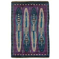 Vintage Rya Rug | See more antique and modern Russian and Scandinavian Rugs at http://www.1stdibs.com/furniture/rugs-carpets/russian-scandinavian-rugs