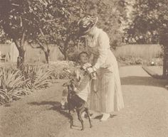 Ethel Roosevelt with her son Richard at Sagamore Hill