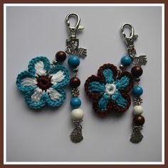 Amigurumi's - Google+ Crochet Keychain, Tassel Keychain, Crochet Earrings, Diy Crafts For Gifts, Yarn Crafts, Cute Crochet, Knit Crochet, Knitting Patterns, Crochet Patterns