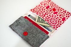 My free Fold & Stitch Wallet Pattern on It's Sew Easy TV! — SewCanShe   Free Daily Sewing Tutorials