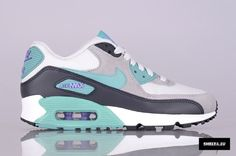 Nike Womens Air Max 90   Light Base Grey   Diffused Jade