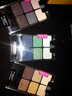 Wet N Wild Eyeshadow palletes . Shades are (left to right ) Lust , Pride and Vanity . Never been used . For sale or swap .