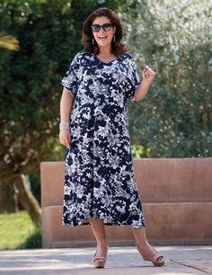 Plus size Dena grey/blue dress