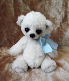 Too cute! Aira  Artist Bear Mohair Alpaca 8 inch Teddy by NataliaKoroleva, $120.00