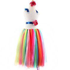 Rainbow Tutu Costume Dress