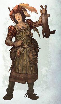 f Bard CN lvl Lt Armor Dagger Rabbit Dinner traveler lg Warhammer Fantasy Roleplay, Fantasy Rpg, Medieval Fantasy, Fantasy World, Character Concept, Character Art, Concept Art, Character Design, Fantasy Characters