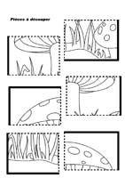 Puzzle du champignon 6 pièces