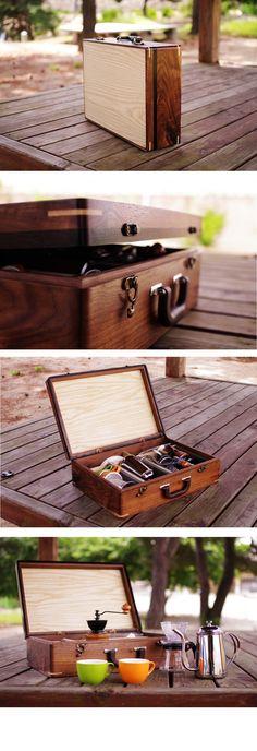 Handmade woodbag walnut + maple + ebony + ash plywood Wooden carriage