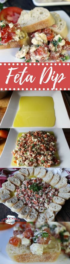 4 easy steps to make this feta dip - a perfect appetizer to bring to any party!