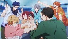 Take Your Marks-- Arm wrestling with Sousuke! Momotarou Mikoshiba, Makoharu, Anime Love, Anime Guys, Nagisa Free, Free Kisumi, Gou Matsuoka, Free Eternal Summer, Splash Free