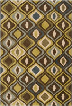 Monterey MTR-1001 Moss Rug from the Bauhaus Minimal Design Rugs III collection at Modern Area Rugs