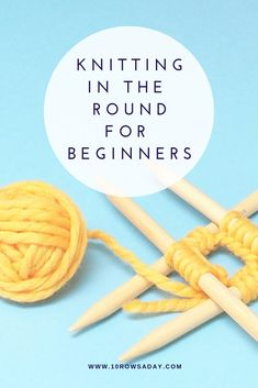 How to Knit in the Round with Five Double-Pointed Needles | 10 rows a day Knitting Basics, How To Start Knitting, Knitting Kits, Knitting For Beginners, Easy Knitting, Loom Knitting, Knitting Stitches, Knitting Designs, Knitting Patterns