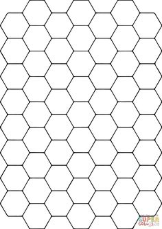 Tessellation with Hexagon coloring page from Tessellations category. Select from 26804 printable crafts of cartoons, nature, animals, Bible and many more. Pattern Coloring Pages, Free Printable Coloring Pages, Colouring Pages, Hexagon Pattern, Pattern Art, Hexagon Patchwork, Geometry Pattern, Honeycomb Pattern, Marble Pattern