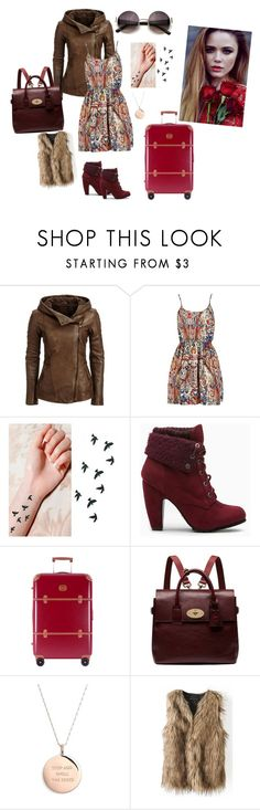 """""""Earth tones..."""" by margaretiosif on Polyvore featuring Bric's, Mulberry, Kate Spade, women's clothing, women's fashion, women, female, woman, misses and juniors"""
