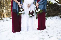 Winter wedding #wedding #winter #bouquet #dress #inspiration #details
