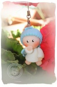 Angelito llavero. Porcelana fría Angel keychain. Cold porcelain