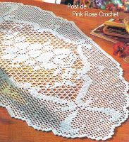 \ PINK ROSE CROCHET /: Centro de Mesa Caminho Trilho (Very Good Graph)