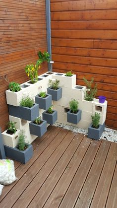 Cinder Block Garden, Diy Ideas, Patio, Gardening, Garden, Ideas, Garden  Decorations, Vegetable Garden, Tumblers