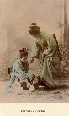 Old Japan People life,