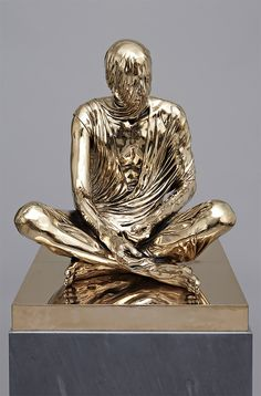 """These incredible bronze and marble sculptures by London-based sculptor Kevin Francis Gray seem to be dripping with fabric.  """"The resulting works portray these subjects—often with personal histories marred by contemporary demons such as addiction—with dignity and importance, yet they also express a somber, contemplative quality emphasized by the artist's consistent shrouding of his subject's faces.""""  - Rachel Wilf  More art on the grid via Colossal"""