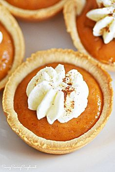 Mini Pumpkin Pies Made in a Muffin Tin Mini Pumpkin Pies Made in a Muffin Tin – Savvy Saving Couple More from my site These Mini Pecan Pies are easy to make and can also be made ahead of time. These… Mini Pumpkin Pies Pumpkin Tarts, Best Pumpkin Pie, Mini Pumpkin Pies, Pumpkin Pie Recipes, Fall Recipes, Holiday Recipes, Mini Pies, Mini Pie Recipes, Pumpkin Pie Cupcakes