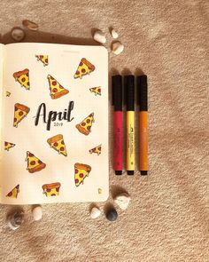 35 Best April Bullet Journal Monthly Cover Page Ideas - Bliss Degree April Bullet Journal, Bullet Journal Headers, Bullet Journal Tracker, Bullet Journal School, Bullet Journal Notebook, Bullet Journal Ideas Pages, Bullet Journal Spread, My Journal, Journal Covers
