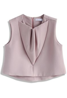 Ruffled Sleeveless Crop Top in Pink - New Arrivals - Retro, Indie and Unique Fashion