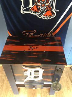 Detroit Tigers cooler Wooden Cooler, Diy Cooler, Detroit Tigers