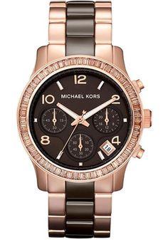 Michael Kors Ceramic Rose Gold Watch