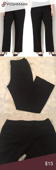 Black Editor Pants Plus Size Worn once for an interview. Excellent condition, no wear to report. Sleek and classic editor pant look. Nice smooth waist detail with hook closures, no bulky buttons. Pants Trousers