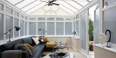 Expert advice to help you choose blinds for your conservatory. Learn about the different types of conservatory blinds available. Vertical Window Blinds, Shutter Blinds, Blinds For Windows, Pvc Windows, Conservatory Roof Blinds, Conservatory Decor, Budget Blinds, Diy Blinds, Venetian Blinds Wooden