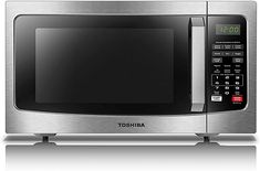 Toshiba Microwave Oven with Smart Sensor, Easy Clean Interior, ECO Mode and Sound On/Off, Cu. Best Small Microwave, Best Convection Microwave, Countertop Microwave Oven, Built In Microwave, Small Dishwasher, Stainless Steel Countertops, Specialty Appliances, Kitchen Dining, Microwaves
