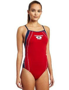 d09e1237cf5e7 Speedo Womens Lifeguard Endurance Voyager Y-Back Swimwear, Red/Navy, 40 #