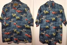 North River Classic Car Shirt Mens Size 2XL Chevelle, GTO, Hemi Cuda  #NorthRiver #ButtonFront