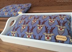 Toddler Bed, Tray, Etsy Shop, Furniture, Home Decor, Aluminium Foil, Dramatic Play, Reindeer, Cherries
