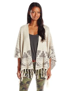 Billabong Juniors Desert Voyage Poncho Jacquard Sweater > Awesome product. Click the image : Fashion