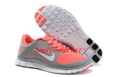 best website 89aca 700a1 35MSHQ Light Gray Pink Nike Free 4.0 V3 Women s Running Shoes Pink Running  Shoes, Cheap