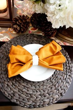 DIY  Fold Cloth Napkins into bow